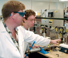 Professor Eric Beckman teaching in his laboratory