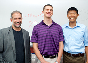 From left: Batista, Sadtler, and Byron M. Yu