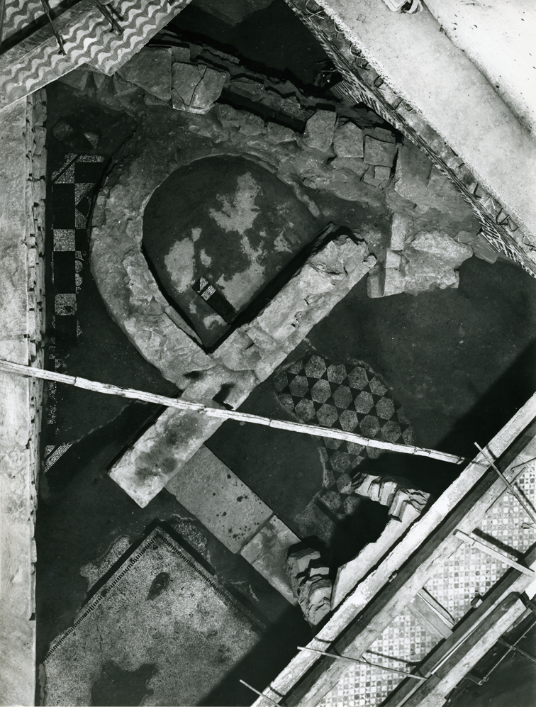 The pool found by excavators in 1912 beneath the Baptistery of St. John  opposite the Cathedral of Florence.