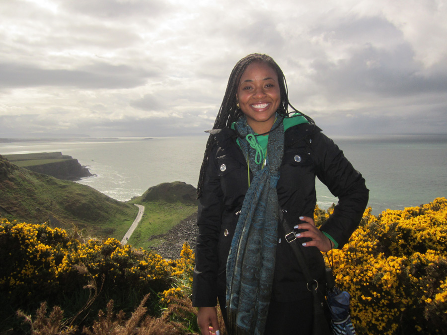 LaVonda Baldwin during Pitt's 2013 Study Abroad in Ireland Program