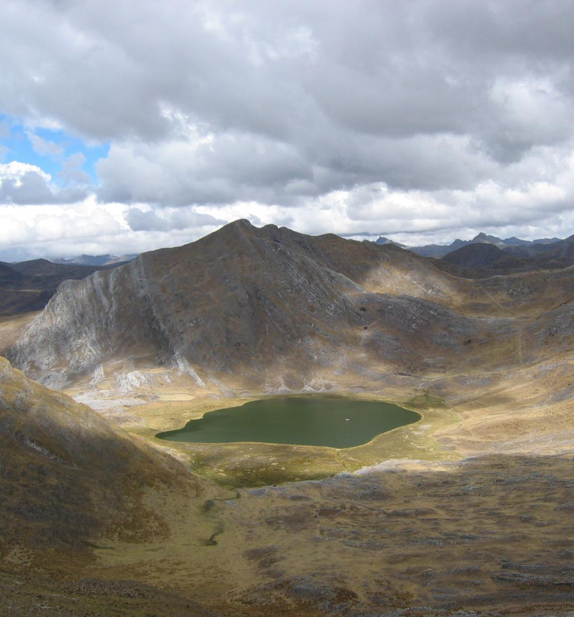 Laguna Pumacocha in the Peruvian Andes.