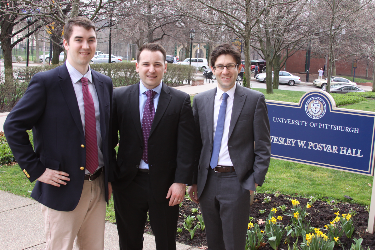 From left, Presidential Management Fellows Pieter Mueller and William Cole, with Presidential Management Fellowship finalist Harrison Grafos