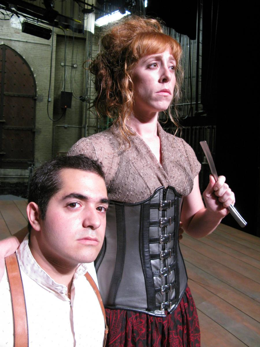 Rocky Paterra (left) as Tobias Ragg and Theo Allyn as Mrs. Lovett.